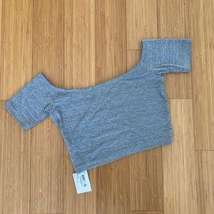 American apparel off-the-shoulder crop top